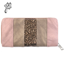New Arrival PU Leather Wallet Women Christmas Gift Fashion Lady Purse Brand Coin Purse Vintage Long Zipper Party Clutch Wallet(China)