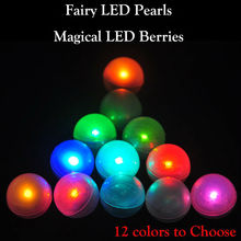 100Pcs/lot Battery Powered LED Berry Lights Dreamlike Wedding Christmas Party Decorations Fortune Fairy Pearls Balloons Lamps