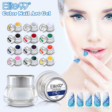 Elite99 3D Nail Art Paint Draw Painting Acrylic Color UV Gel 12 Color Choosable Glitter Builder False Tips Nail Art Polish