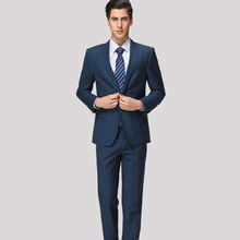 Stylish men's suit tailor made business office suits simple handsome two button men's formal  suits(jacket+pants)