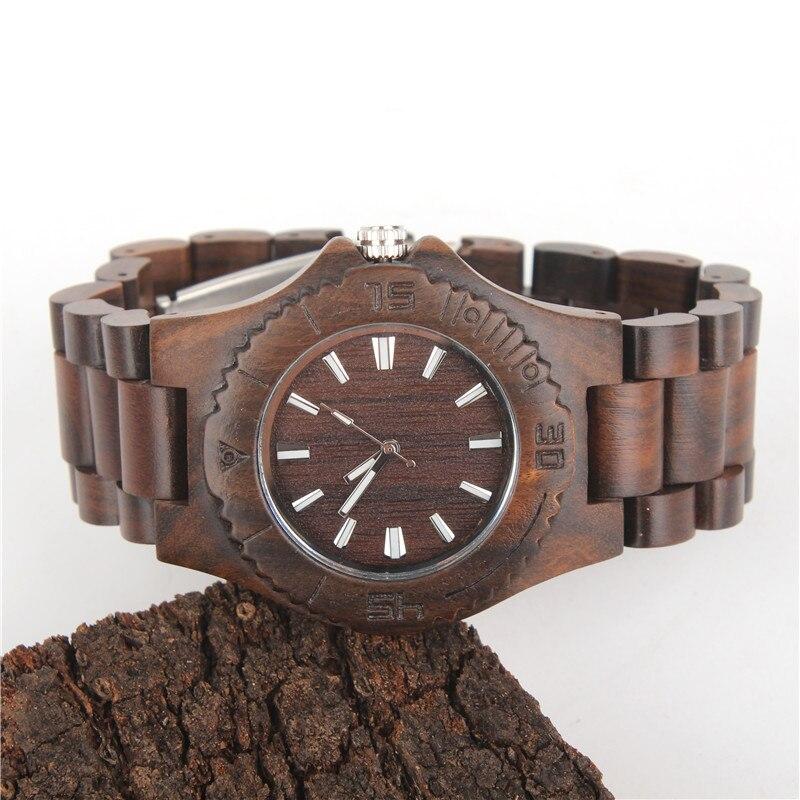 Natural wood handmade watch dark  color unisex Vegan Quartz Casual Wrist original watch WA-67-5602<br><br>Aliexpress