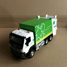 1:50 Scale/Diecast Model/Volvo Garbage Truck Car/Engineering Toy/Sound & Light/Educational Collection For Children/Gift