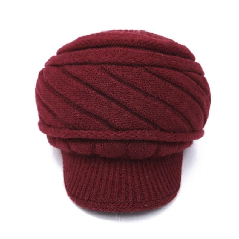 2017 Winter Elegent Women beanie hat Warm Knitted Wool Beret Striped Beanie Hat Cap for women bonnet femme winter hats for womenÎäåæäà è àêñåññóàðû<br><br><br>Aliexpress