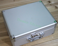 360*280*150mm Aluminum alloy tool box equipment display case file storage box portable cipher lock case(China)