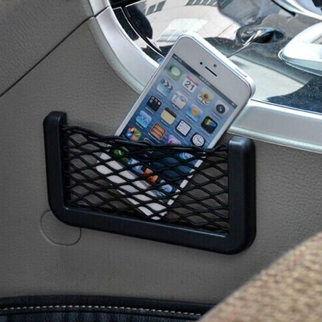Hotsale 14.5*8.5 cm Universal Auto Car Seat Back Storage Net Bag Phone Holder Pocket Organizer free shipping(China (Mainland))