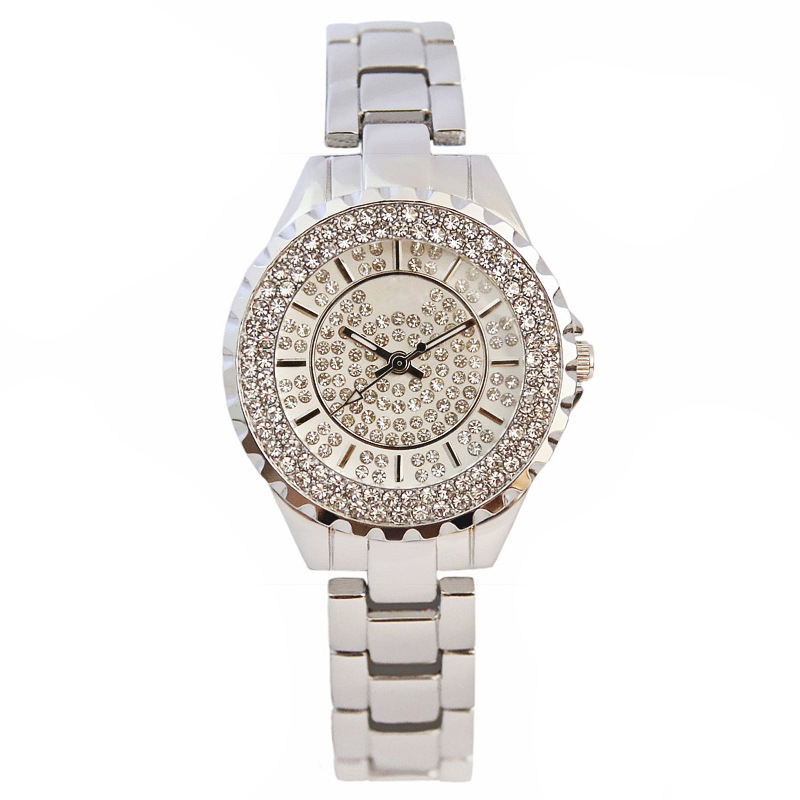 Luxury Women Wristwatch Quartz Rhinestone Watches Fashion Watch Alloy Band Wrist Watches Waterproof Wrist Watch Womens Girl<br>