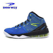 Deerway Brand Basketball Shoes For Men 2017 Outdoor Hard-Wearing Anti-Slippery Air Mesh Blue Black Sneakers Sport Jordan Shoes(China)