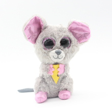 "Ty Beanie Boos Big Eyes 6"" Plush Lovely Mouse Cheese Animal Toys"
