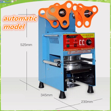 new Fully automatic bubble tea cup sealing machine 220v plastic cup sealer automatic bubble tea cup sealer