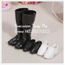 JIMMY BEAR 3 Pairs/Set Dolls Cusp Shoes Leather Shoes Boots for Ken Doll Barbies Boyfriend Toy(China)