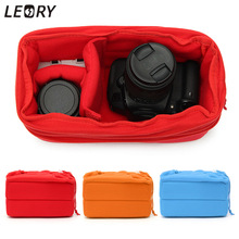 LEORY 2017 Hot Padded Shockproof DSLR SLR Camera Video Insert Bag Polyester Protect Case Pouches For Canon For Nikon For Sony(China)