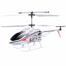 SYMA S39 2.4GHZ 3CH remote control RC helicopter with gyroscope led flashing aluminum anti-Shock toys kids gifts(China)