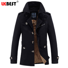 LKBEST 2017 New long men trench coat thick winter jacket men Cashmere men windbreaker brand autumn slim mens overcoat (FY15)