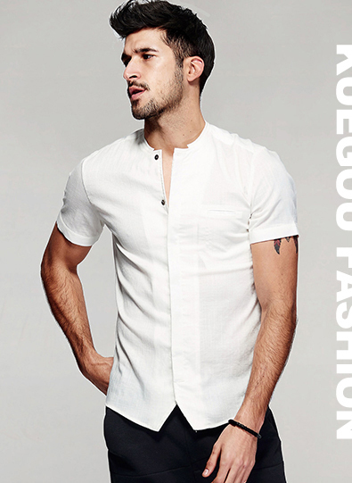 KUEGOU Summer Mens Casual T Shirts 10 Solid Colors Brand Clothing Man's Wear Short Sleeve Slim T-Shirts Tops Tees Plus Size 601 49