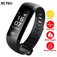 Smart WristBand Fitness Bracelet Watch Heart Rate Monitor Blood Oxygen Intelligent Weather 50 Words for ios xiaomi M2 Pro band 2