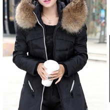 Buy Women Winter Overcoat Fur Collar Winter Autumn Zipper Plus Size Coats Fashion Warm Outerwear Female Hooded Thick Clothes for $19.92 in AliExpress store