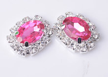 Free Shipping  Flat Back Peach Pink Acrylic Rhinestone Embellishment 20mm 20pcs/lot Silver Color