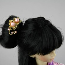 [wamami] 699# OOAK Pink Bead Classical Chinese Ancient Hairpin 1/4 MSD AOD BJD Dollfie(China)