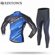 Xintown Professional Long Sleeve Winter Ropa Ciclismo Breathable Wicking Pants 3d Gel Padded Riding Bike Clothing Sportswear(China)