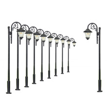 LYM37 10 pcs Model Railway Train Lamp Post Street Lights Yard light model lamppost  model lights HO OO Scale LEDs NEW