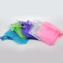 DoreenBeads 100 PCs Mixed Gift pouch bag organza bags with draw wedding suppliers, 9cm x 7cm (B07742)(China)