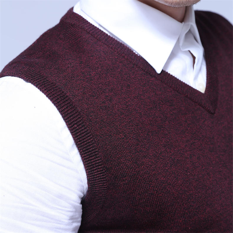 Men Sweater Vest MuLS Brand Winter Colored Wool Knitted Sleeveless Sweater Male Cotton Jumper Autumn Spring 2018 New Size M-3XL-04