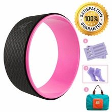 Yoga Wheel With Foldable Handy Bag Pilates Magic Circle Yoga Ring Home Slimming Fitness Equipment