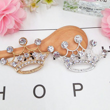 Dower Me Brand 2pcs Dazzling wedding crown Phone Drilling Mobile Phone DIY Accessories Rhinestone Metal Mobile phone stickers(China)