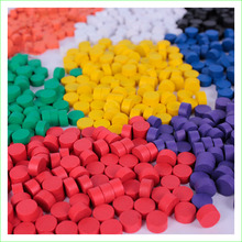Child Educational Toy Wooden Dia 10*5MM Board Game Pieces Pawns 8 Colors 80 Pieces(China)