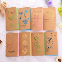 Popular Retro Hollow-out Kraft Paper Hot Stamping Card Creative CARDS Flower Shop Taobao Gift Wholesale(China)