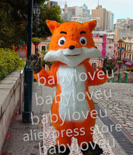 New long plush fox mascot costume fancy hot sale dog bugs bunny dragon mascotte cooling fancy dress carnival costume