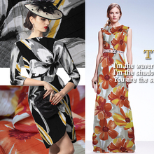 Imported from Japan fashion bark knit cotton printed skirts dresses trench coat fabric cloth(China)