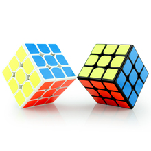 3x3 Fidget Cube Professional Magic Cube PVC Sticker Puzzle Cube Boys Gifts Educational Toys Puzzles Magico Cubo(China)