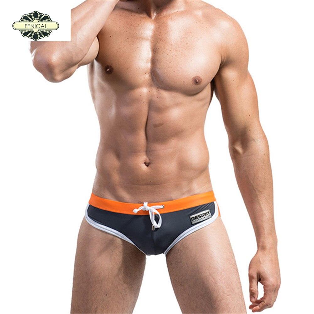 Buy Best DICHSKI 2017 Men s Triangle Swimwear Underwear Male Swimming  Trunks Patchwork Color Beachwear Sexy Briefs High Quality Shorts for Sale
