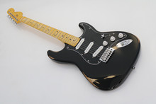2017 quality factory custom relic strings old used vintage faded musical instrument electric bass guitar stratocaster(China)