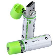 Best Price For 2Pcs AA Battery Nimh AA 1.2V 1450MAH Rechargeable Li-ion USB AA 1450 With Colorful Card