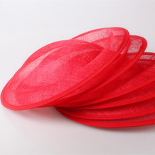 3 color 30CM big SINAMAY fascinator base saucer Inspired sinamay percher hat fascinator millinery Base diy base wedding headwear
