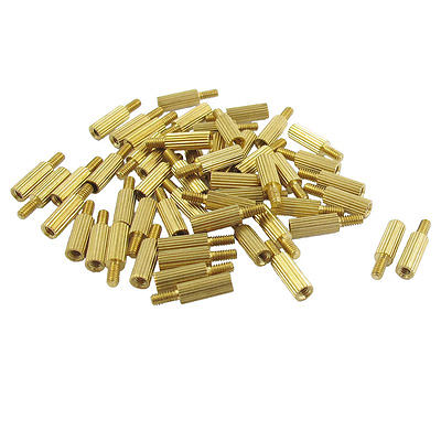 50 Pcs Male to Female Thread Brass Pillars Standoff Spacer M2x8mmx11mm<br><br>Aliexpress