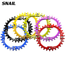 SNAIL Bicycle Crank 104BCD Cycling Round 30T Chainring Narrow Wide Ultralight 7075-T6 MTB Bike Chainwheel Circle Crankset Plate(China)