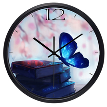 Dream Fluorescence Butterfly Wall Clock Silent Living Room Decoration Clock   Home Decor