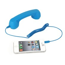 3.5mm Classic Comfort Retro Phone Handset Speaker Call Mic Receiver for iPhone Android Phones New Arrival(China)