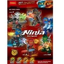 6Pcs/lot DECOOL Ninjagoes 10053-58 Building Blocks Bricks toys kids gifts Fit lego Ninjago minifigure Movie Series