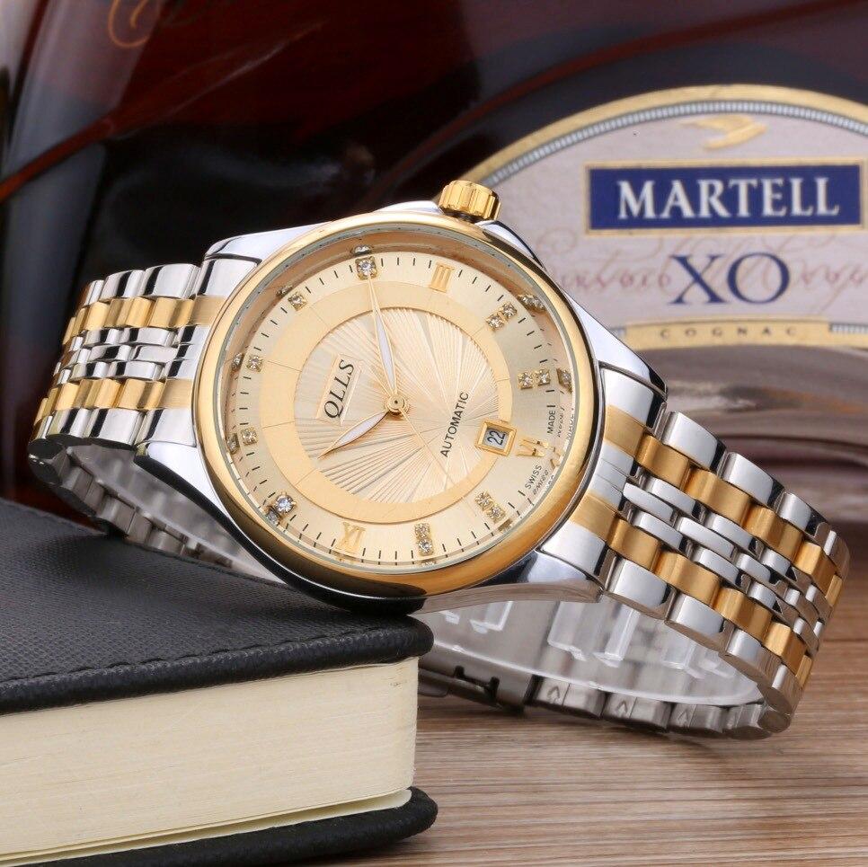 QLLS Automatic Mechanical Watches Men Gold Wrist Watches Male Quartz Watch Waterproof Casual Luxury Relogio Masculino <br>