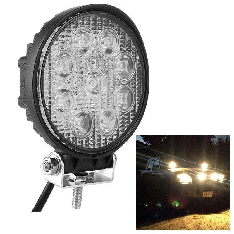 27W LED Work Light for Indicators Motorcycle Driving Offroad Boat Car Tractor Truck 4x4 SUV ATV 12V Waterproof IP67 SUVs Light<br><br>Aliexpress