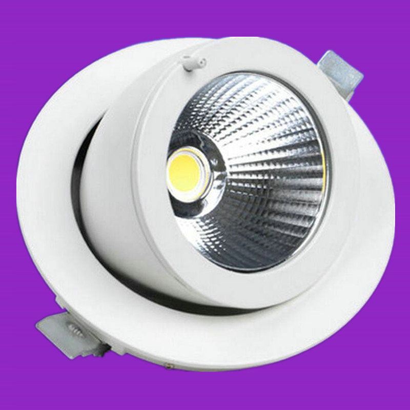 Rotate 360 degrees 30W Recessed LED Ceiling Downlight Spot light For Home Lighting Decoration, Warm White/Cold White<br>