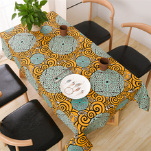USPIRIT Korean Pastoral Tablecloth Fabric Nappe Table Cover Countryside Mediterranean Bohemia Table Cloth Custom Bright