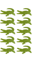 3.8x2cm Crocodile gold glitter sticker label(China)