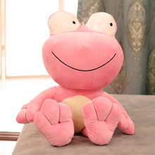 lovely creative plush pink frog toy new big eyes frog doll about 70cm(China)