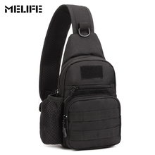 MELIFE Military Chest bag Travel Water Bottle Fashion Shoulder Messenger Sling Pack Waterproof Men's Crossbody Bags Nylon 1000D