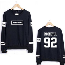 Kpop mamamoo solar moonbyul member name printing o neck thin sweatshirt for spring  fashion pullover hoodies for fans